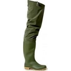 Γαλότσες μηρού PVC πράσινες ECO PRO Αδιάβροχα - Γαλότσες